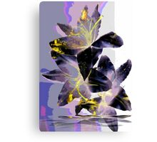 Abstract Lily in Purple Canvas Print