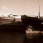 Rusty Russian Ship Bottoms by M-EK