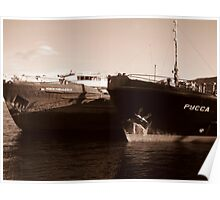 Rusty Russian Ship Bottoms Poster