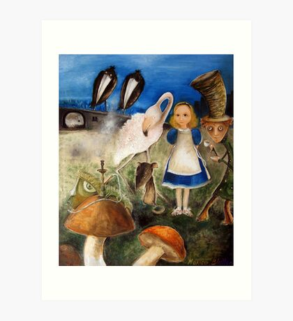 Bird Migration In Wonderland Art Print