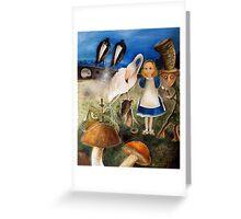 Bird Migration In Wonderland Greeting Card