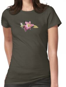 Lovely Pink Lilies Womens Fitted T-Shirt
