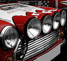 Classic Mini Cooper Spotlights by Wellb69Images