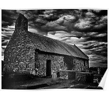 anglesey church b+w  Poster
