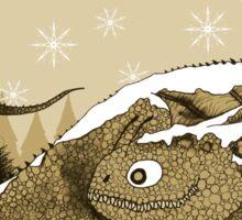 Snow Dragon Sticker