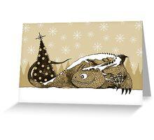 Snow Dragon Greeting Card