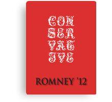 Sever Conservative Canvas Print