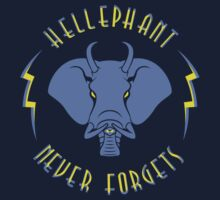 Hellephant - Impale Blue on Dark Blue by Koobooki
