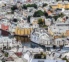 Looking down on Alesund by pixog