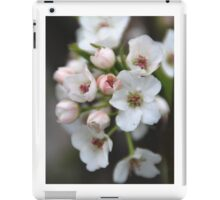 White and Pink Flowers iPad Case/Skin