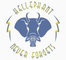 Hellephant - Impale Blue on Light Yellow by Koobooki