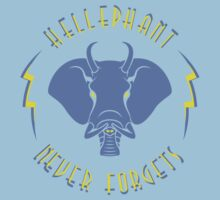 Hellephant - Impale Blue on Light Blue by Koobooki