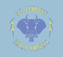 Hellephant - Impale Blue on Light Blue Womens Fitted T-Shirt