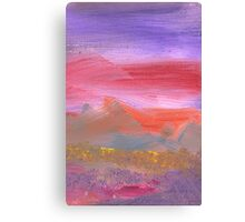 Abstract - Guash - Lovely meadows 1 of 2 Canvas Print