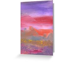 Abstract - Guash - Lovely meadows 1 of 2 Greeting Card