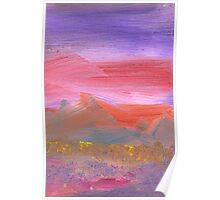 Abstract - Guash - Lovely meadows 1 of 2 Poster