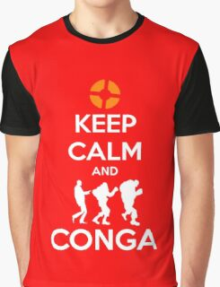 Keep Calm and CONGA Graphic T-Shirt