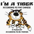 Very Funny Chinese Zodiac Tiger T-Shirt by HolidayT-Shirts