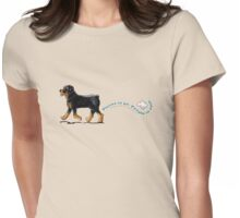 Rottweiler Places to Go Womens Fitted T-Shirt