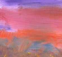 Abstract - Guash - Lovely meadows 2 of 2 by Mike  Savad