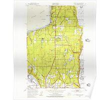 USGS Topo Map Washington State WA Poverty Bay 243263 1949 24000 Poster
