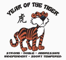 Cute Chinese Year of Tiger T-Shirt Kids Tee