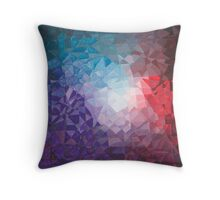 Winter Berry Fragments - acrylic smash Throw Pillow