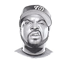 ice cube drawing Photographic Print