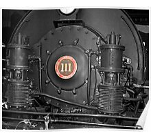 Engine #111 Selective Color Poster