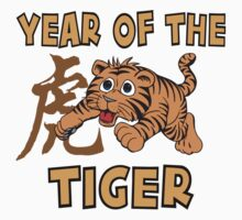 Cute Baby Tiger - Year of The Tiger T-Shirt by HolidayT-Shirts