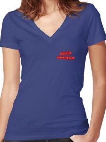Hello to Jason Isaacs Women's Fitted V-Neck T-Shirt
