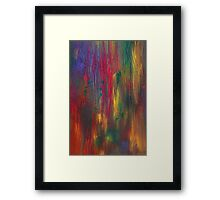 Abstract - Tempera - Night Fall Framed Print
