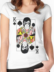 Elvis Presley Vegas Style Playing Card Women's Fitted Scoop T-Shirt