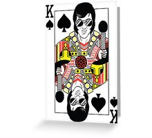 Elvis Presley Vegas Style Playing Card Greeting Card
