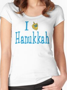 I Love Hanukkah Hanukkah T-Shirt Women's Fitted Scoop T-Shirt