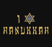 "Hanukkah ""I Love Hanukkah"" T-Shirt Kids Clothes"