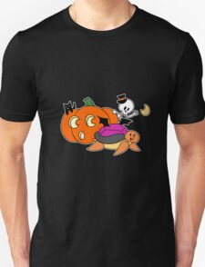 Pumpkin Skeleton Turtle T-Shirt