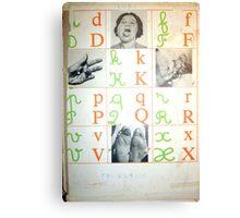 ALFABETO PARA PECADORES (alphabet for sinners) Canvas Print