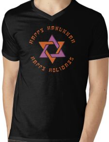 Happy Hanukkah T-Shirt Mens V-Neck T-Shirt