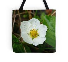 Strawberry Flower Tote Bag