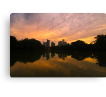 Sunset at Piedmont Park Canvas Print