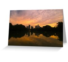 Sunset at Piedmont Park Greeting Card