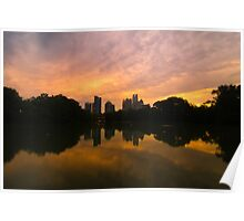 Sunset at Piedmont Park Poster