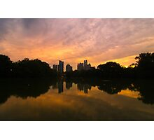 Sunset at Piedmont Park Photographic Print