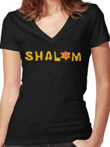 Shalom T-Shirt Women's Fitted V-Neck T-Shirt