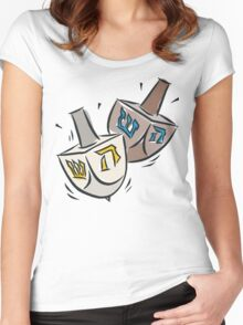 Dreidel Dreidel T-Shirt Women's Fitted Scoop T-Shirt