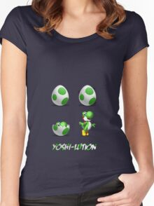 Yoshi-lution! Women's Fitted Scoop T-Shirt