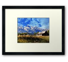 Cabin With A View Of The Tetons Framed Print