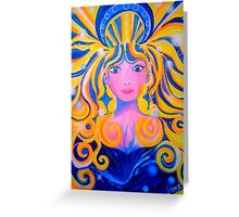 ORIGINAL PAINTING - Unveiling of the Goddess - Visionary Pagan & Spirit Art Greeting Card