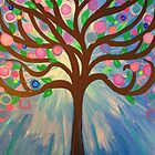 WHIMSICAL Fantasy Art Painting - Tree of Light by jonkania